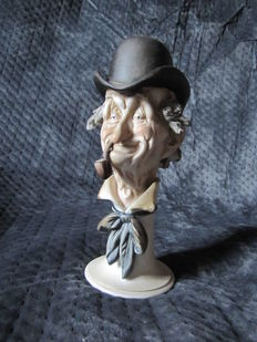 Humorous anthropomorphic statuette signed and numbered G.Laurent, France