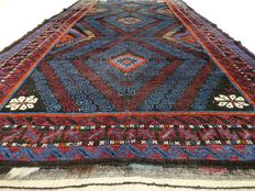 """Semi-antieke Afghan – 245 x 128 cm. – """"Collector's item – Eye-catcher in beautiful semi-antique condition""""."""
