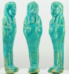 Ancient Egyptian nice blue faience Shabti - ca. 12 cm - c. 4,72 inches
