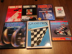 7 books Formula 1 & Grand Prix: Grand Prix: Fascination Formula 1  - The cars, the drivers, the circuits / Formula 1 yearbook 1981, 1985, 1997,  Grand Prix yearbook 1984 and Grand Prix Guide 1950 - 1994