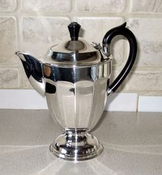"Antique silver plated English teapot, marked ""A1 E.P.N.S."" on the side and ""Made in Sheffield""	Dated 1900-1940"