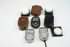 3 Weston exposure meters with diffusers