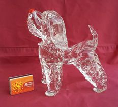 Art Glass: Vintage glass Terrier dog-ca. 1950