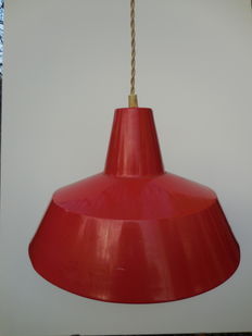 Unknown designer - Enamel Dutch industrial factory light from the 60s