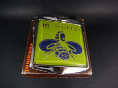 Vintage Chrome Renamel Boxed and Unused Scorpio Star Sign Scorpion Car Badge Mascot 1970's with all fixings