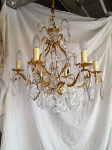 Cage chandelier in the style of Louis XV 6 lights, late 19th century