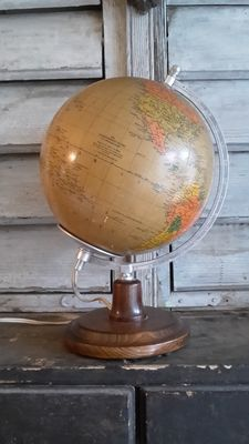 Räth political globe with lighting Germany 1984
