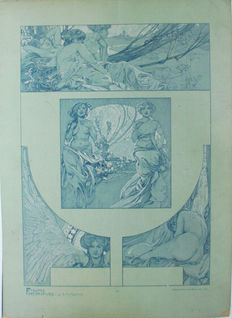 "Alphonse Mucha for ""Figures Decoratives"""