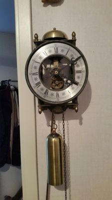 Skeleton clock - German made - 2nd half last century