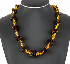 Baltic amber matinée necklace