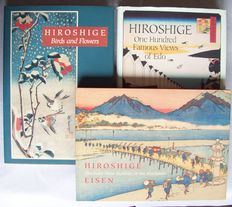 Lot of 3 books about the work of Hiroshige -1988/1999/2008.