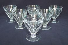 6 wine glasses in cut Baccarat Crystal, model Talleyrand - signed, France, 20th century