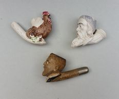 3 G (a) 1840-1890 clay pipes-Givet-France.