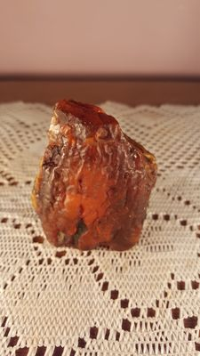 53gr Baltic Amber raw  orange color piece