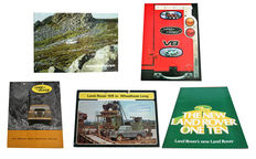 5 Land Rover brochures from the period 1960-1982.