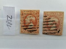Luxembourg 1852/1959 - Composition of single stamps and series in stock album.