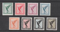 German Reich 1926 - airmail stamps eagle - Michel 378/384