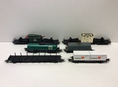 Märklin H0 - 4663/4618/4617/4621/4770/4653 - 6 freight carriages of the DB (lot 501)