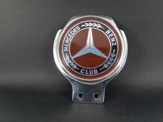 Beautiful Vintage Metal Mercedes Benz Club Car Auto Mascot made by Renamel