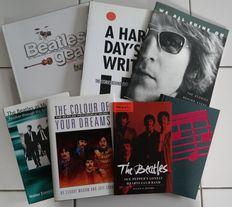 Lot of 7 Beatles books all about their music