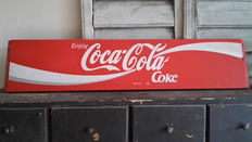 Metal advertising sign. - Coca Cola - Second half of the 20th century.