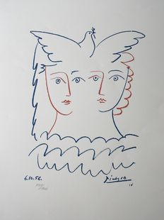 Pablo Picasso (after) - Les colombes