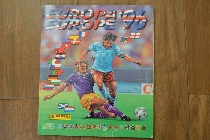 Panini - Euro 1996 England UK - Complete album - Original orderform included.