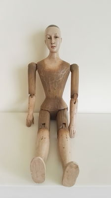 A large wooden mannequin, late 20th century