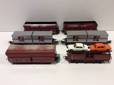 Märklin H0 - 4668/4691/4613/4626 - 6 various freight carriages (lot 503)