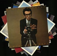 UK boom of 1970s/80s alternative pop and rock artists - Lot of nine albums by Elvis Costello & The Attractions (5), Carmel, The Comsat Angels, Lloyd Cole and the Commotions and China Crisis