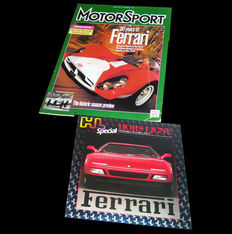 "1997 ""Motorcar"" with focus on The 50 years of Ferrari + 1990 schwiss ""Hors Ligne"" special of Ferrari."