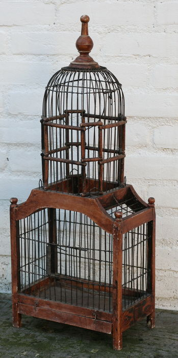 cage oiseaux ancienne sans doute des pays bas premi re moiti du xxe si cle catawiki. Black Bedroom Furniture Sets. Home Design Ideas