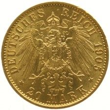Germany - Prussia 20 marks 1905A - gold.