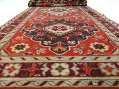 "Kazak - 356 x 84 cm - ""Long, Persian, colourful runner in beautiful condition."""