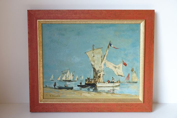 Dietz replica-painting Voiliers (Sailing boats / yachts), Boudin