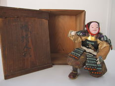 Samurai doll with full armour with jingasa and sword - Japan - Late-Meiji period (1892)