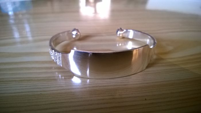 Heavy Tuareg bangle in 925 silver - 19 -> 22 cm