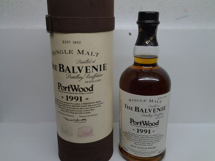 1991 The Balvenie PortWood Single Malt Scotch Whisky.