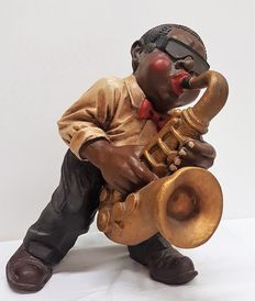 Statue of a Jazz/Blues Saxophonist