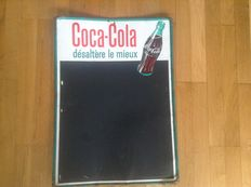Sheet metal advertising sign for Coca Cola 1960