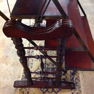 A victorian mahogany metamorphing shelving unit converting for 0co om cca 9 source table