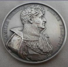 France - XIX c. - Medal 'Prince Camille Borghese (Napoleon Brother in Law)' by Rogat - Silver