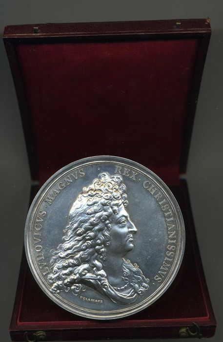 France - Medal 'Louis XIV - Capture of The City of Phillipsburg 1688' by Delahaye - Silver