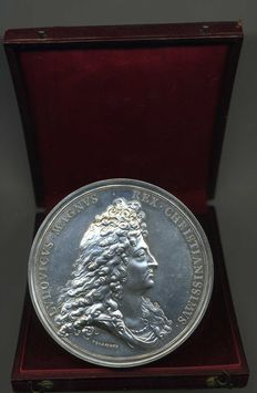 France - Louis XIV - Medal 'Capture of The City of Phillipsburg 1688' by Delahaye - Silver