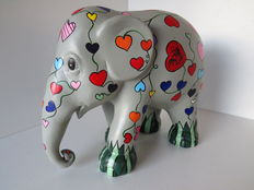 "Elephant parade - ""Let your heart flower"" by Nicole Duller"