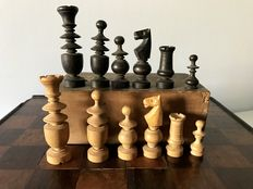 Antique Regence chess set, 19th century