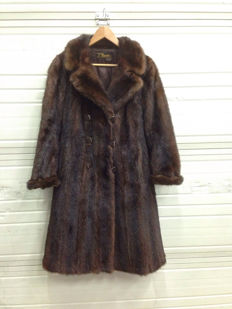 Mink fur coat.