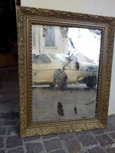 Framed mirror, late 1800s
