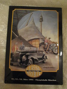 Mercedes-Benz - metal sign - 30 x 40 cm - Classic Mobil - Olympiahalle München - 03/1995