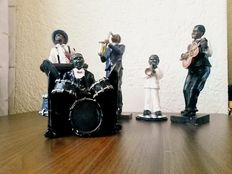 Five-man colourful Jazz Band, polyresin, United States.